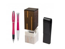 Parker Urban Fashion Cool Magenta Lacquer CT Fountain Pen + Parker Urban Fashion Cool Magenta Lacquer CT Ballpoint Pen in a Gift Box  StandUP Matrix