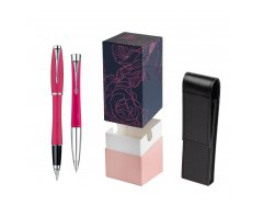 Parker Urban Fashion Cool Magenta Lacquer CT Fountain Pen + Parker Urban Fashion Cool Magenta Lacquer CT Ballpoint Pen in a Gift Box  StandUP Roses