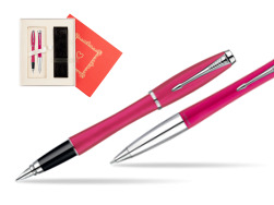 "Parker Urban Fashion Cool Magenta Lacquer CT Fountain Pen + Parker Urban Fashion Cool Magenta Lacquer CT Ballpoint Pen in a Gift Box in Gift Box ""Red Love"""
