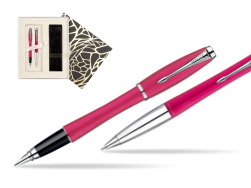 Parker Urban Fashion Cool Magenta Lacquer CT Fountain Pen + Parker Urban Fashion Cool Magenta Lacquer CT Ballpoint Pen in a Gift Box in Standard Gift Box