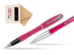 Parker Urban Fashion Cool Magenta Lacquer CT Fountain Pen + Parker Urban Fashion Cool Magenta Lacquer CT Ballpoint Pen in a Gift Box in Standard 2 Gift Box