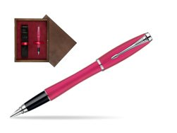 Parker Urban Fashion Cool Magenta Lacquer CT Fountain Pen  single wooden box  Wenge Single Maroon