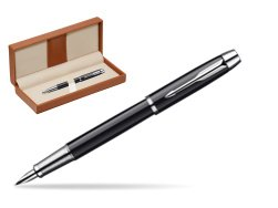 Parker IM Black Lacquer CT Fountain Pen  in classic box brown
