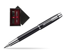 Parker IM Black Lacquer CT Fountain Pen  single wooden box  Black Single Maroon