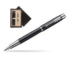 Parker IM Black Lacquer CT Fountain Pen  single wooden box  Wenge Single Ecru