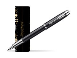 Parker IM Black Lacquer CT Fountain Pen in cover Golden Tree