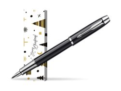 Parker IM Black Lacquer CT Fountain Pen in cover Snow Gift