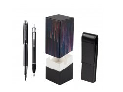 Parker IM Black Lacquer CT Fountain Pen + Parker IM Black Lacquer CT Ballpoint Pen in a Gift Box  StandUP Crazy line