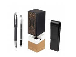 Parker IM Black Lacquer CT Fountain Pen + Parker IM Black Lacquer CT Ballpoint Pen in a Gift Box  StandUP For Men Only