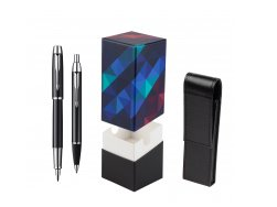 Parker IM Black Lacquer CT Fountain Pen + Parker IM Black Lacquer CT Ballpoint Pen in a Gift Box  StandUP Kaleidoscope