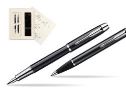 Parker IM Black Lacquer CT Fountain Pen + Parker IM Black Lacquer CT Ballpoint Pen in a Gift Box in Wedding Gift Box