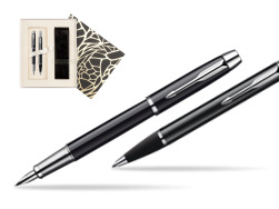 Parker IM Black Lacquer CT Fountain Pen + Parker IM Black Lacquer CT Ballpoint Pen in a Gift Box  Standard