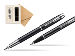 Parker IM Black Lacquer CT Fountain Pen + Parker IM Black Lacquer CT Ballpoint Pen in a Gift Box in Standard 2 Gift Box