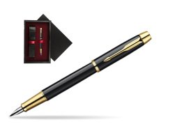 Parker IM Black Lacquer GT Fountain Pen  single wooden box  Black Single Maroon