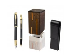 Parker IM Black Lacquer GT Fountain Pen + Parker IM Black Lacquer GT Ballpoint Pen in a Gift Box  StandUP Matrix