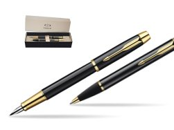 Parker IM Black Lacquer GT Fountain Pen + Parker IM Black Lacquer GT Ballpoint Pen in a Gift Box