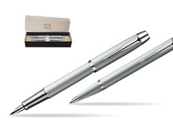 Parker IM Silver CT Fountain Pen + Parker IM Silver CT Ballpoint Pen in a Gift Box