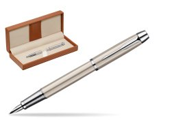 Parker IM Brushed Metal CT Fountain Pen  in classic box brown