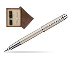 Parker IM Brushed Metal CT Fountain Pen  single wooden box  Wenge Single Ecru