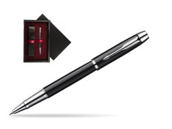 Parker IM Black Lacquer CT Rollerball Pen  single wooden box  Black Single Maroon