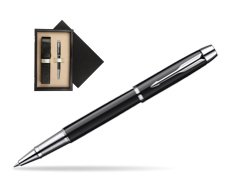 Parker IM Black Lacquer CT Rollerball Pen  single wooden box  Wenge Single Ecru