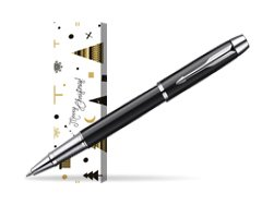 Parker IM Black Lacquer CT Rollerball Pen in cover Snow Gift