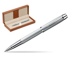 Parker IM Silver CT Rollerball Pen  in classic box brown
