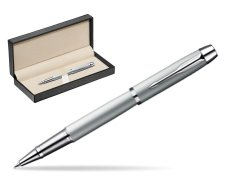 Parker IM Silver CT Rollerball Pen  in classic box  pure black