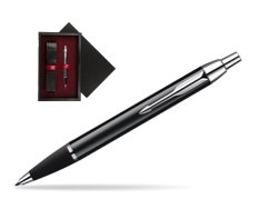 Parker IM Black Lacquer CT Ballpoint Pen  single wooden box  Black Single Maroon