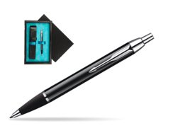 Parker IM Black Lacquer CT Ballpoint Pen  single wooden box  Black Single Turquoise