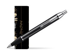 Parker IM Black Lacquer CT Ballpoint Pen in cover Golden Tree