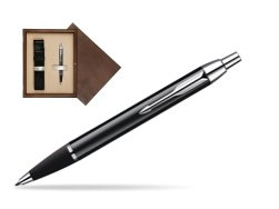 Parker IM Black Lacquer CT Ballpoint Pen  single wooden box  Wenge Single Ecru