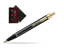 Parker IM Black Lacquer GT Ballpoint Pen  single wooden box  Black Single Maroon