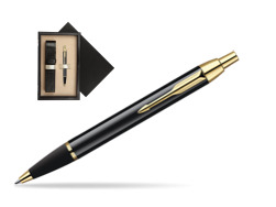 Parker IM Black Lacquer GT Ballpoint Pen  single wooden box  Wenge Single Ecru