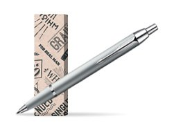 Parker IM Silver CT Ballpoint Pen in cover For real man