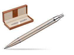 Parker IM Brushed Metal CT Ballpoint Pen  in classic box brown
