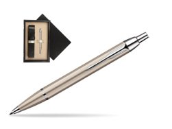 Parker IM Brushed Metal CT Ballpoint Pen  single wooden box  Wenge Single Ecru