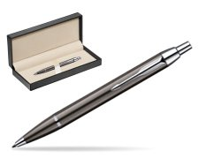 Parker IM Gun Metal CT Ballpoint Pen  in classic box  pure black