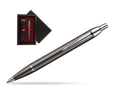 Parker IM Gun Metal CT Ballpoint Pen  single wooden box  Black Single Maroon