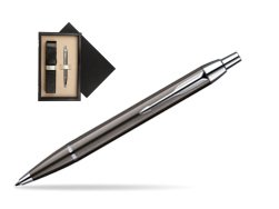 Parker IM Gun Metal CT Ballpoint Pen  single wooden box  Wenge Single Ecru