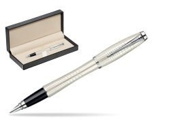 Parker Urban Premium Pearl Metal Chiselled CT Fountain Pen  in classic box  pure black