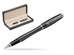 Parker Urban Premium Ebony Metal Chiselled CT Fountain Pen  in classic box  black
