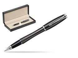 Parker Urban Premium Ebony Metal Chiselled CT Fountain Pen  in classic box  pure black
