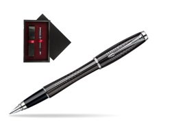 Parker Urban Premium Ebony Metal Chiselled CT Fountain Pen  single wooden box  Black Single Maroon