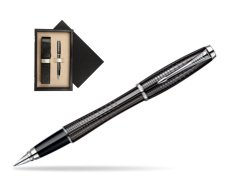 Parker Urban Premium Ebony Metal Chiselled CT Fountain Pen  single wooden box  Wenge Single Ecru