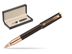 Parker Ingenuity Brown Rubber GT Parker 5TH Technology (slim model)  in classic box  pure black