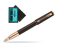 Parker Ingenuity Brown Rubber GT Parker 5TH Technology (slim model)  single wooden box  Black Single Turquoise