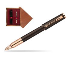 Parker Ingenuity Brown Rubber GT Parker 5TH Technology (slim model)  single wooden box Mahogany Single Maroon