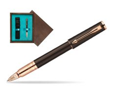 Parker Ingenuity Brown Rubber GT Parker 5TH Technology (slim model)  single wooden box  Wenge Single Turquoise