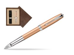 Parker Sonnet Pink Gold PVD CT Parker 5TH Technology in single wooden box  Wenge Single Ecru